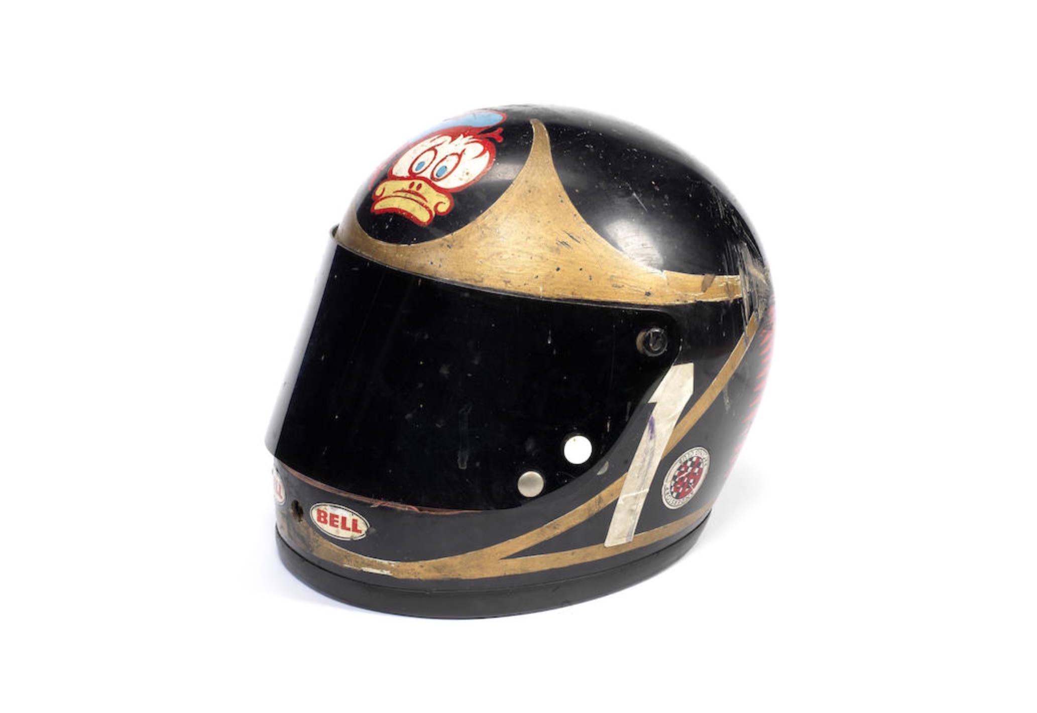 Barry Sheene39s Bell Helmet Helmets Motorcycle Racers And James New Arai Vector X Hutchinson Tt Helm Full Face Black Red