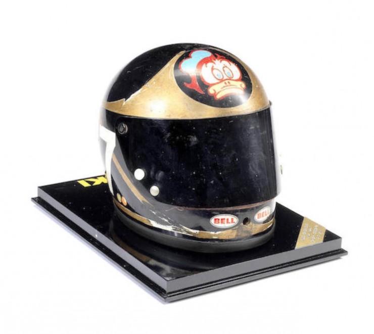 Barry Sheene's Bell racing helmet