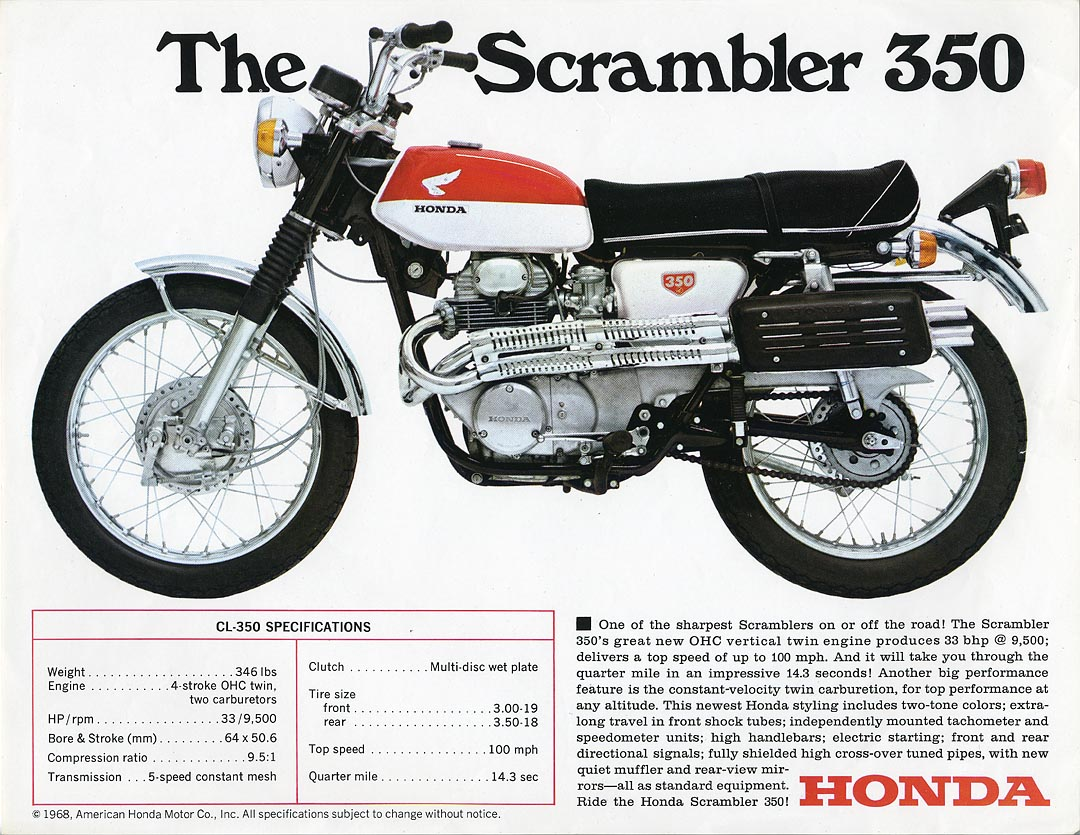 A Brief Guide To Honda Scramblers 1960s 50cc Bike Cl350