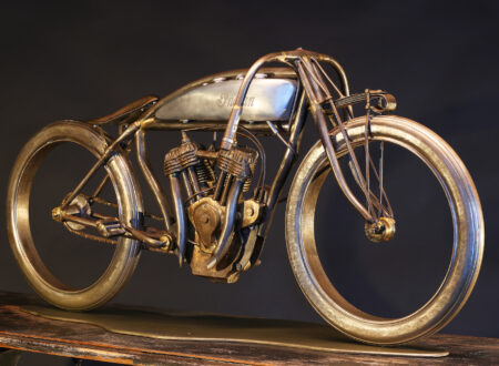Indian Board Track Motorcycle 1 450x330 - Indian Board Track Motorcycle Sculptures