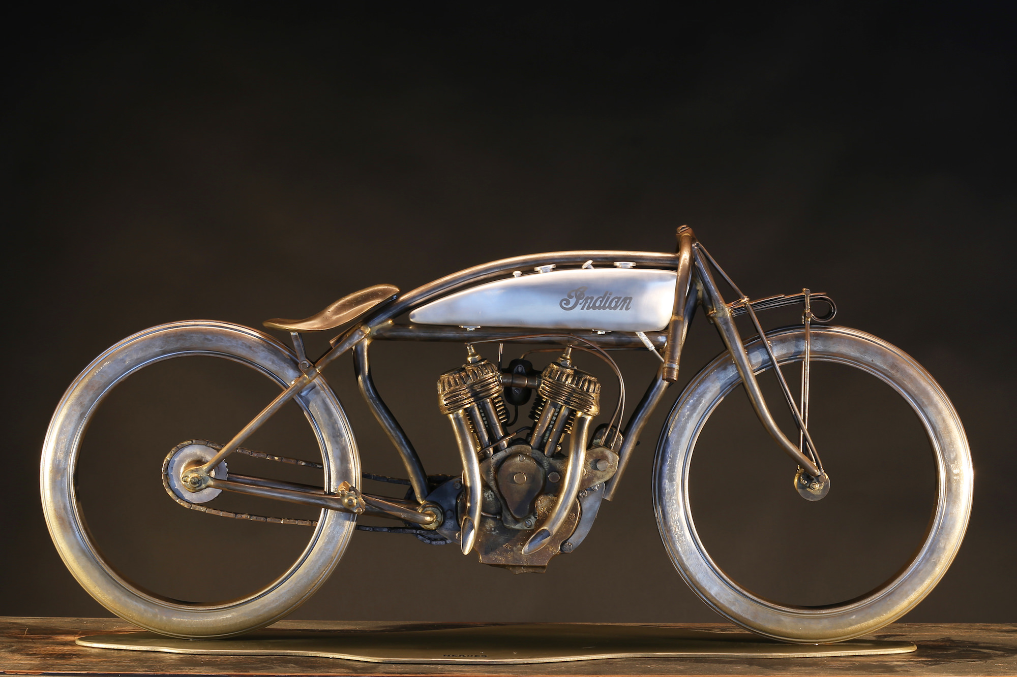 Indian Board Track Motorcycle Sculptures
