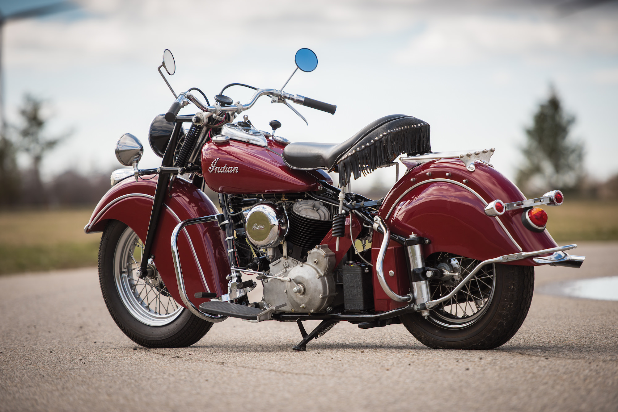 indian chief 1947 roadmaster motorcycle motorcycles classic silodrome bike 1000 sotheby rm darin schnabel