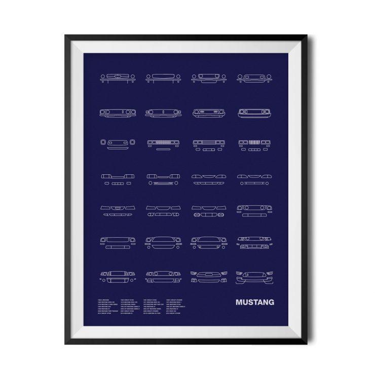 Mustang-Blue_Framed