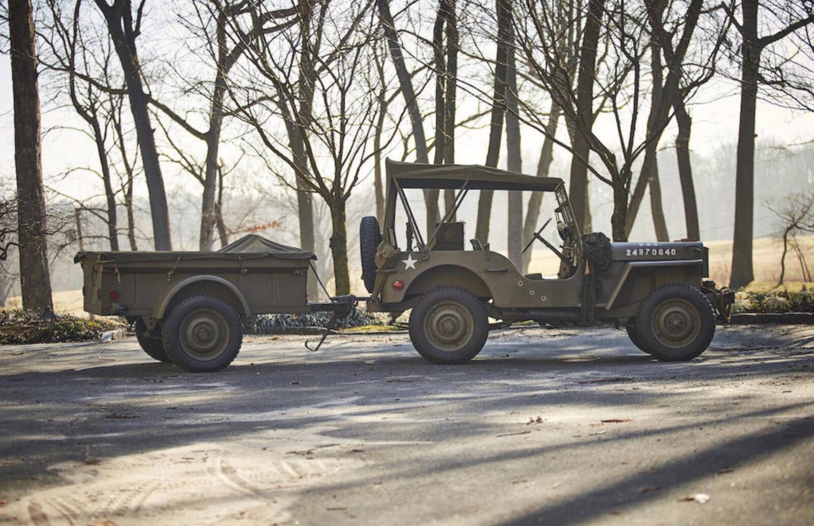 Willys Jeep 1 1600x1035 - 1943 Willys Jeep With Trailer