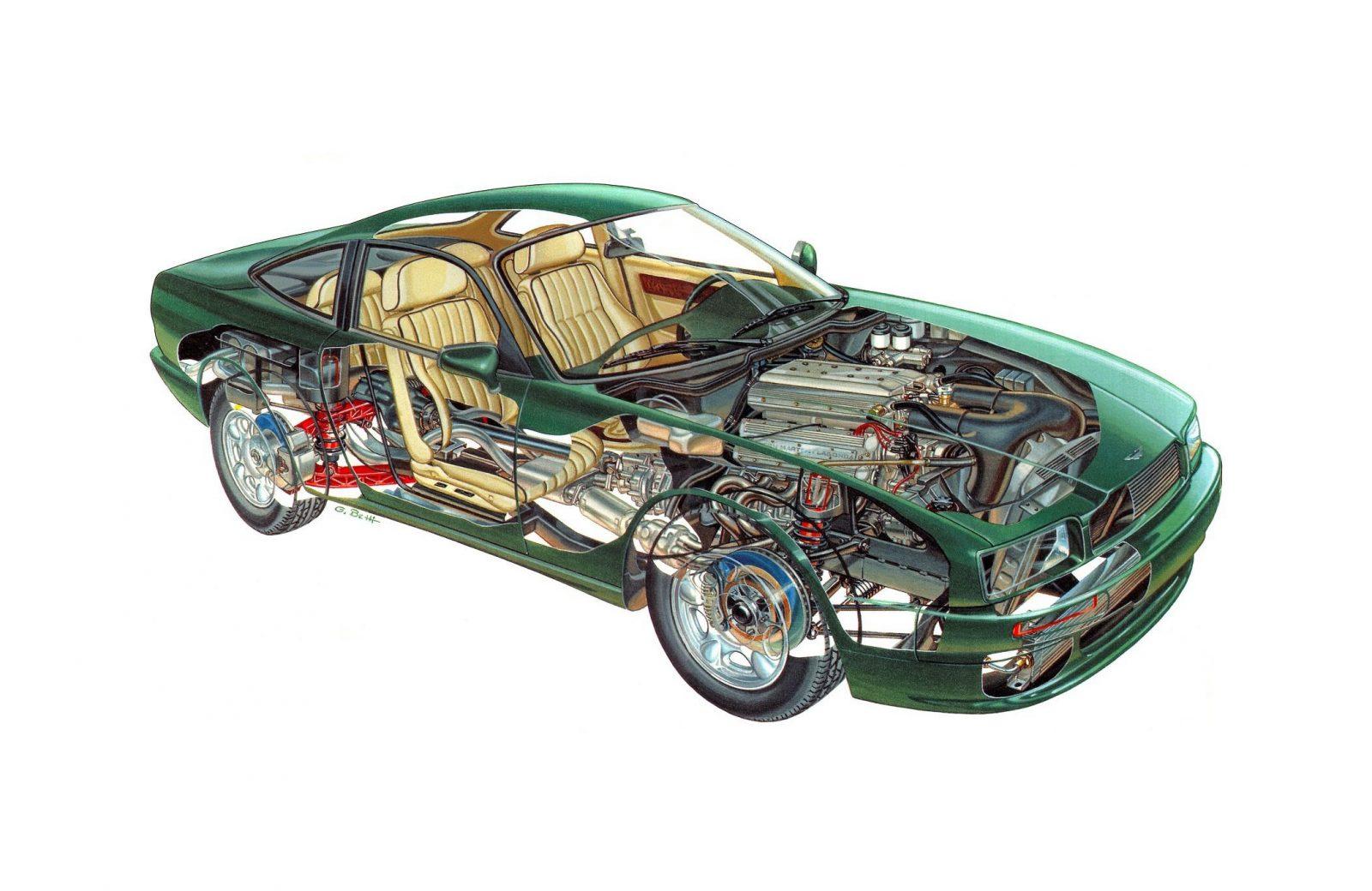 Aston Martin V8 Virage Cutaway 1600x1040 - Aston Martin Virage Cutaway