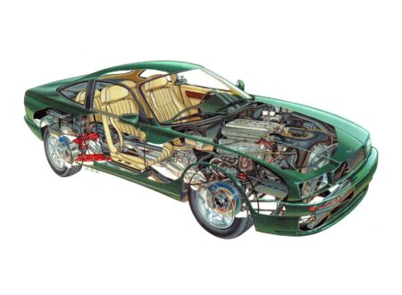 Aston Martin V8 Virage Cutaway 450x330 - Aston Martin Virage Cutaway
