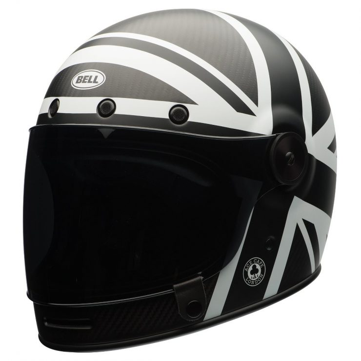 Bell Bullitt Carbon Ace Cafe Black Jack Motorcycle Helmet