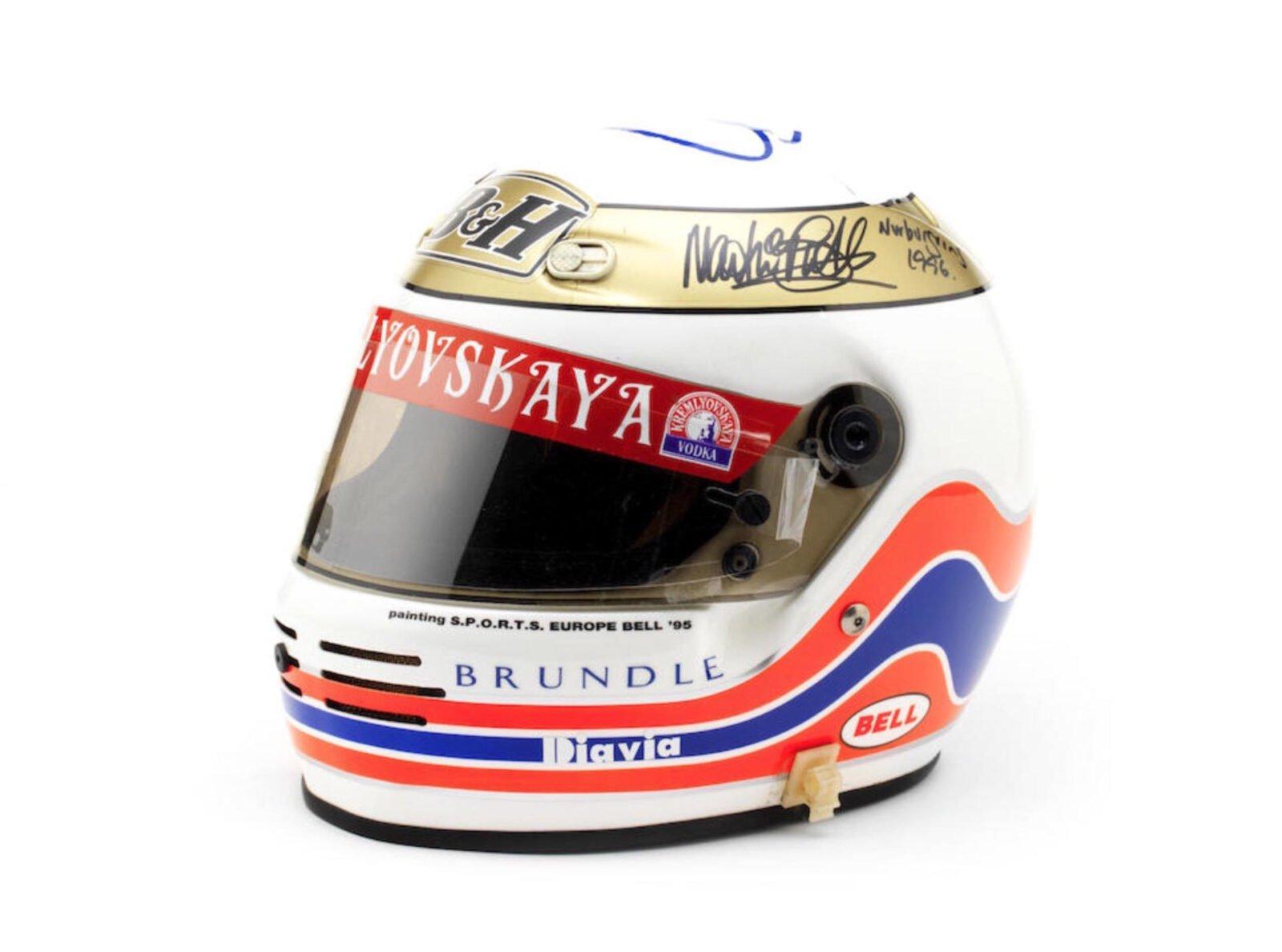 Martin Brundles 1995 Bell Formula 1 Helmet 1600x1188 - Martin Brundle's 1995 Bell Formula 1 Helmet