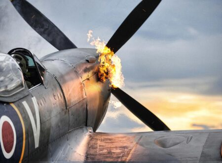 Merlin Engine Starts on a Supermarine Spitfire  450x330