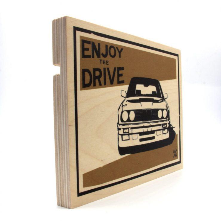 BMW E30 Wood Print by Always Garagista 1