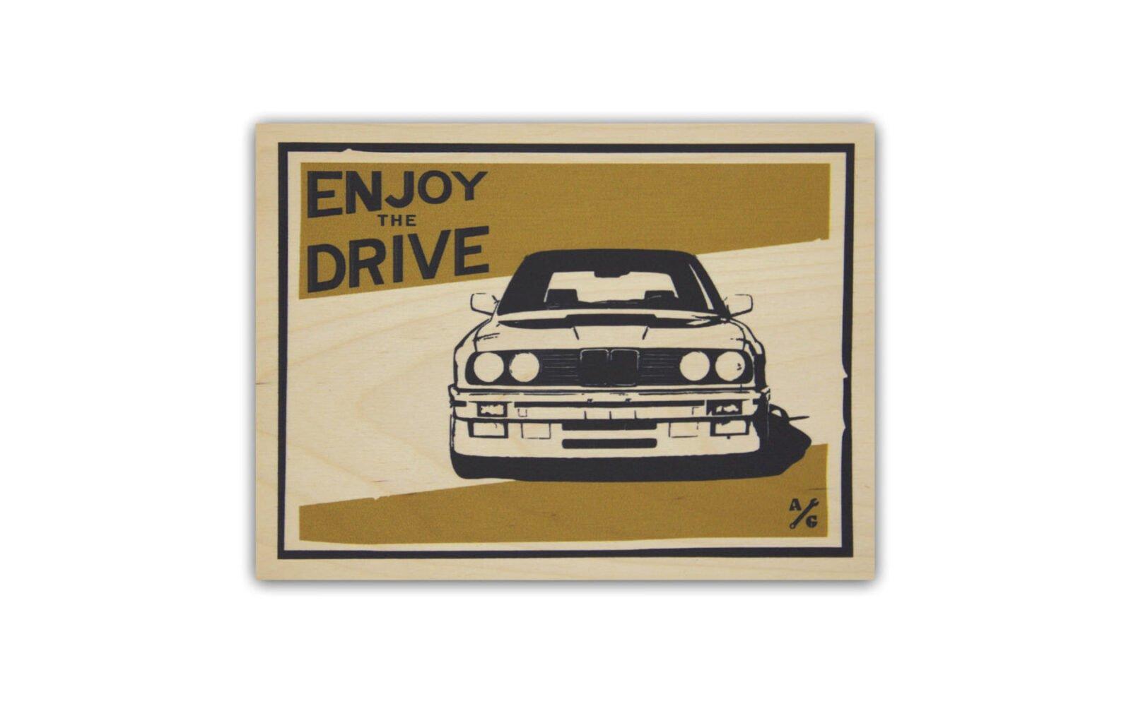 BMW E30 Wood Print by Always Garagista 1600x1000 - BMW E30 Wood Print by Always Garagista