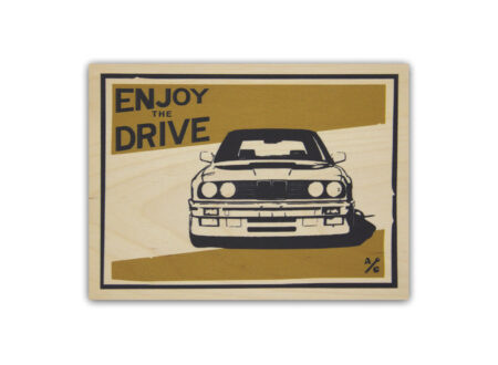 BMW E30 Wood Print by Always Garagista 450x330 - BMW E30 Wood Print by Always Garagista
