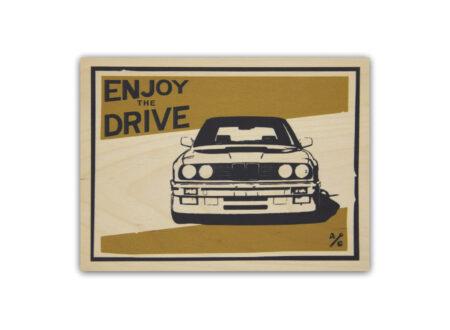 BMW E30 Wood Print by Always Garagista 450x330 - BMW E30 Wood Print by Always Garagista