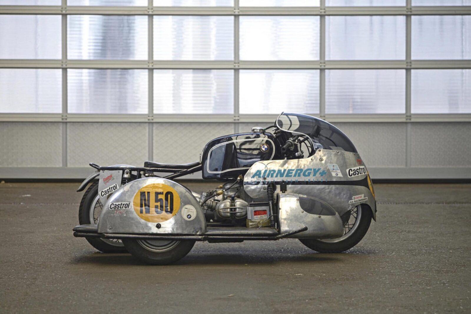 1957 BMW Racing Kneeler Motorcycle