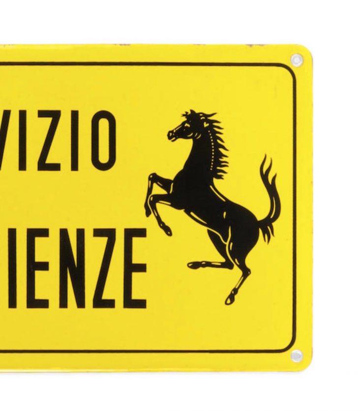 Ferrari Servizio Esperienze Enamel Signs