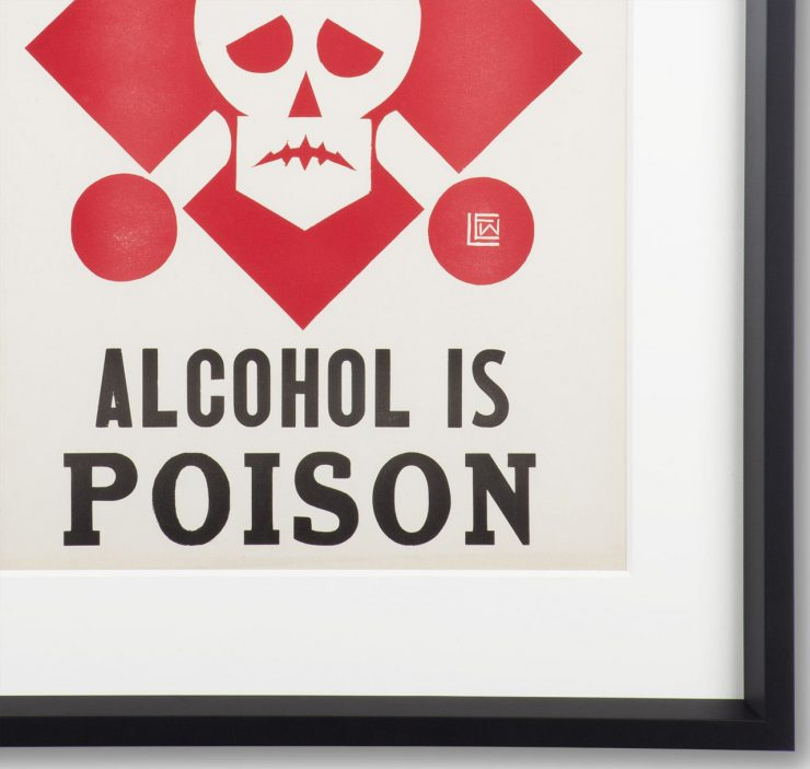 Original %22Alcohol Is Poison%22 Prohibition Poster 1