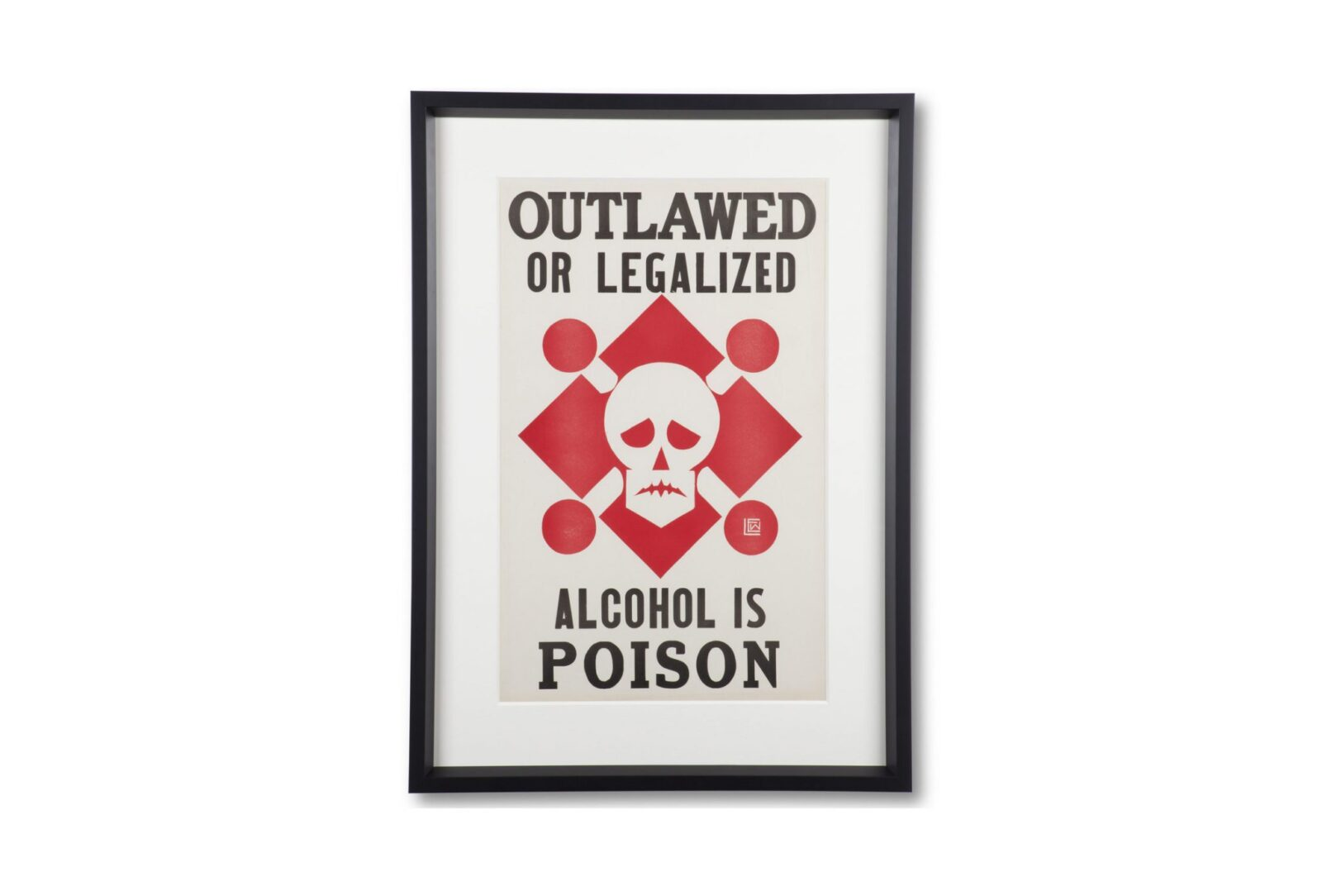 "Original 22Alcohol Is Poison22 Prohibition Poster 1600x1084 - Original ""Alcohol Is Poison"" Prohibition Poster"