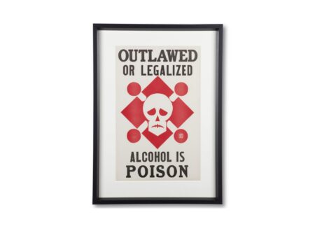 Original %22Alcohol Is Poison%22 Prohibition Poster