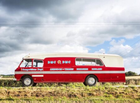 Race Transporter Bus 1 450x330 - 1959 BMC 5-Ton Race Transporter