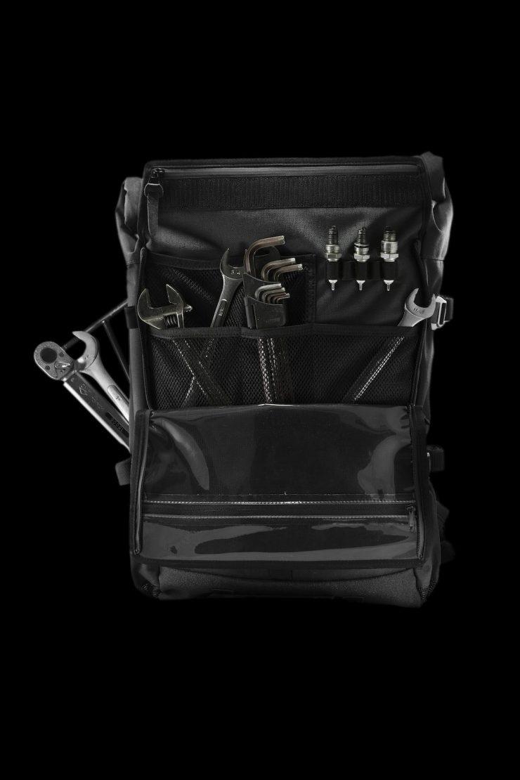 The Peloton Asphalt Motorcycle Backpack 6