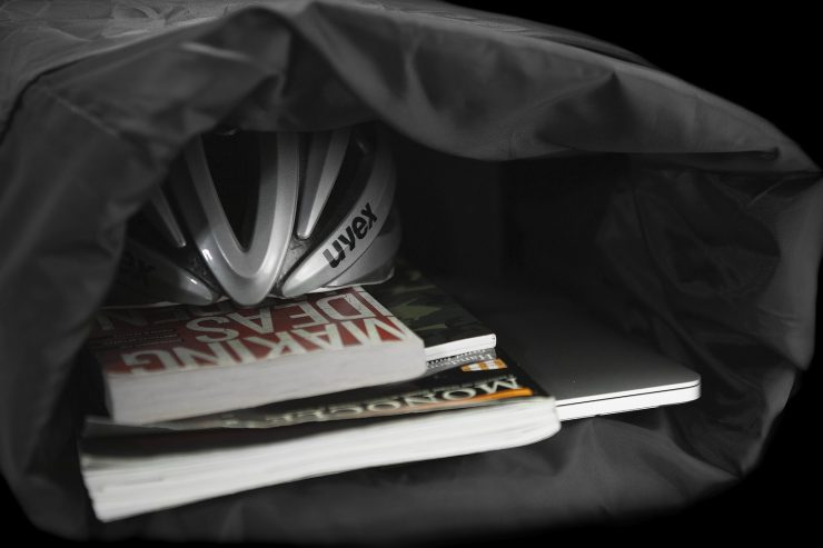 The Peloton Asphalt Motorcycle Backpack 8