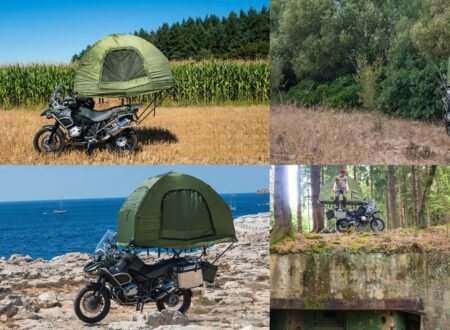 The MoBed A Motorcycle Mounted Tent 450x330
