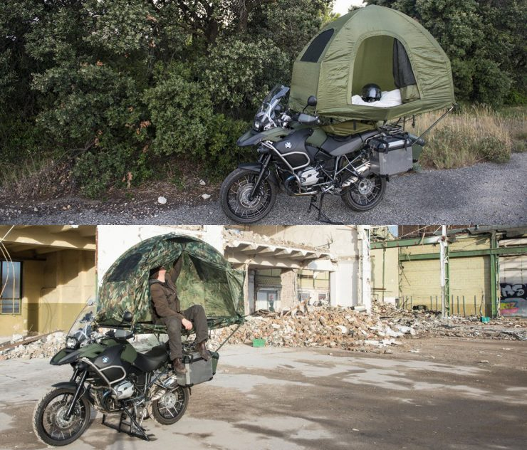 The MoBed – A Motorcycle Mounted Tent