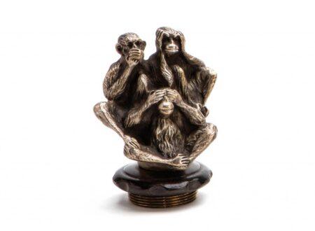 Three Wise Monkeys Radiator Mascot 450x330 - Three Wise Monkeys Radiator Mascot