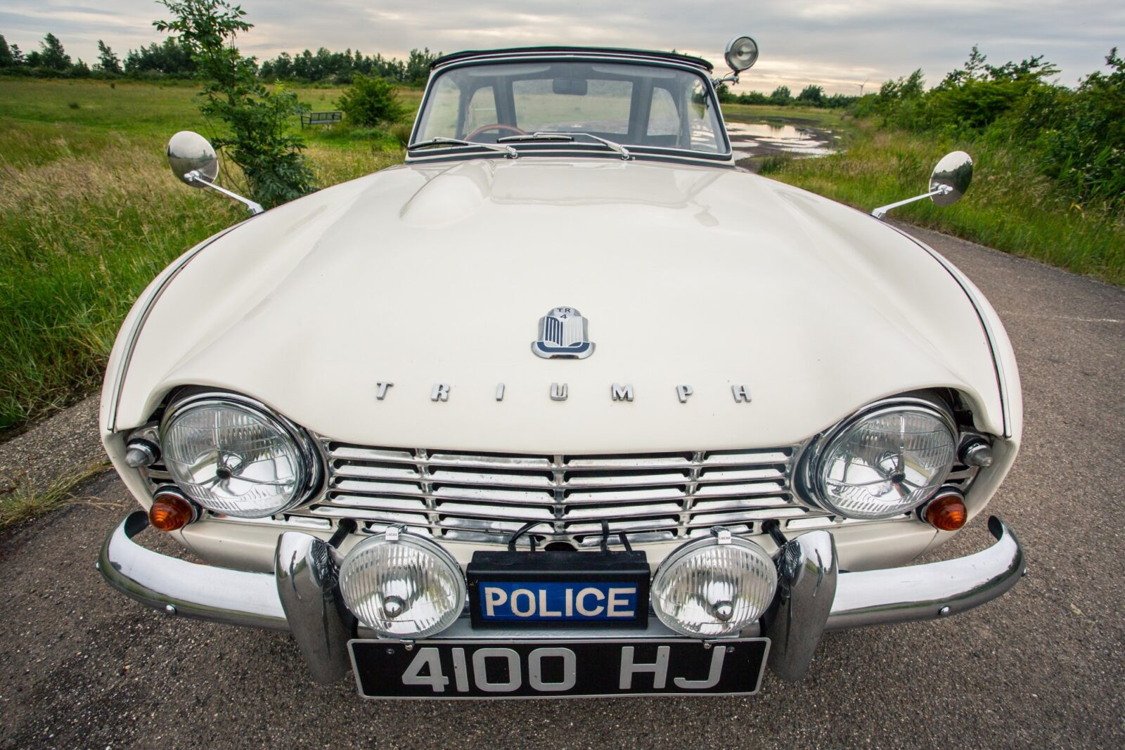 Triumph TR4 Police Car 1 1600x1067 - 'High Speed Pursuit' 1962 Triumph TR4 Police Car