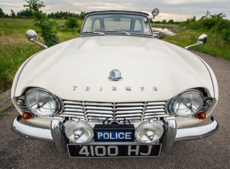 Triumph TR4 Police Car 1 450x330 - 'High Speed Pursuit' 1962 Triumph TR4 Police Car