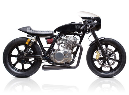 Deus Grievous Angel Yamaha SR400 1 450x330 - James May's Yamaha SR400