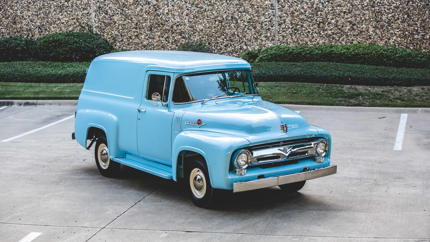 1956 Ford F100 Panel Truck 1955 Running Boards