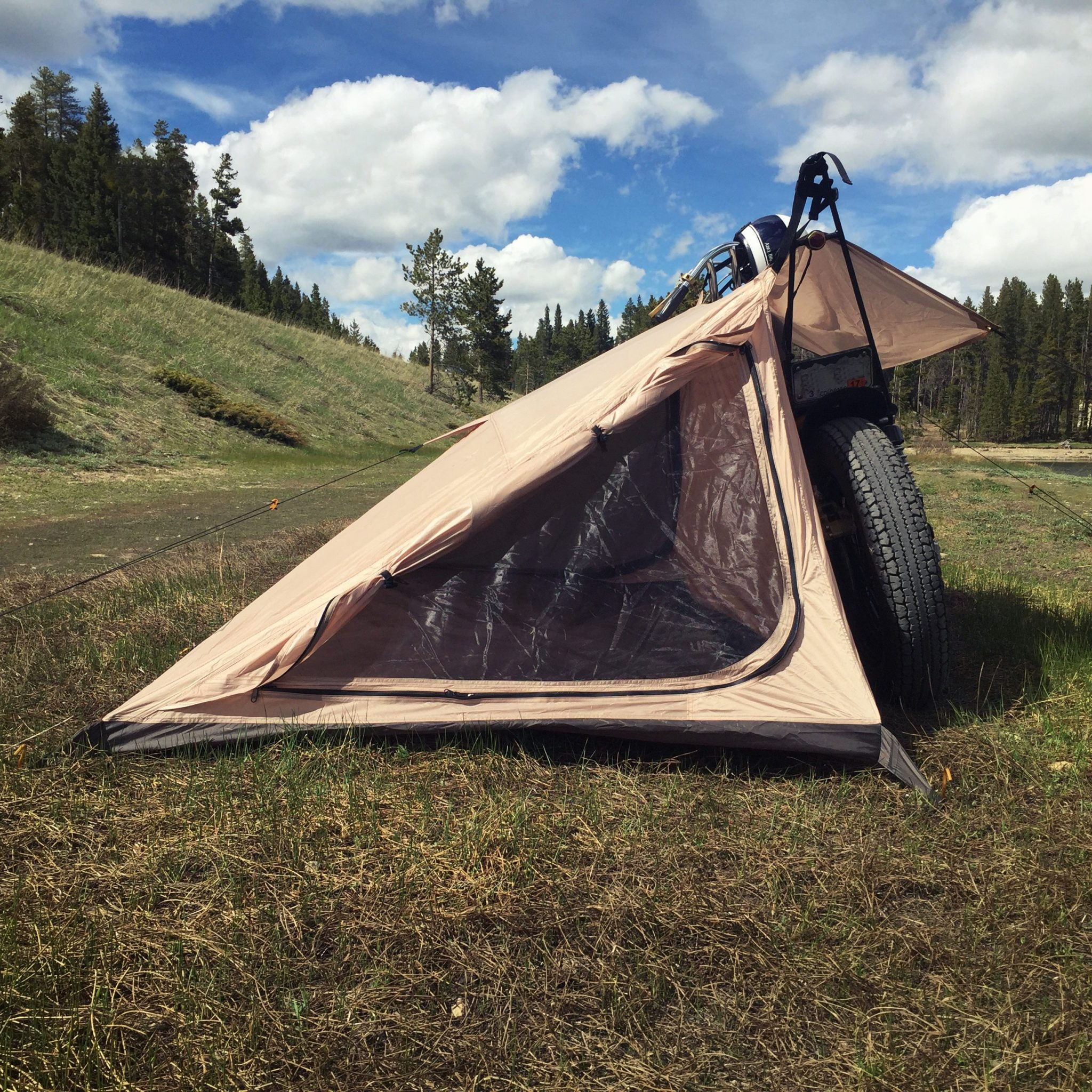 nomad-motorcycle-c&-tent-2 & Nomad 2 Motorcycle Tent