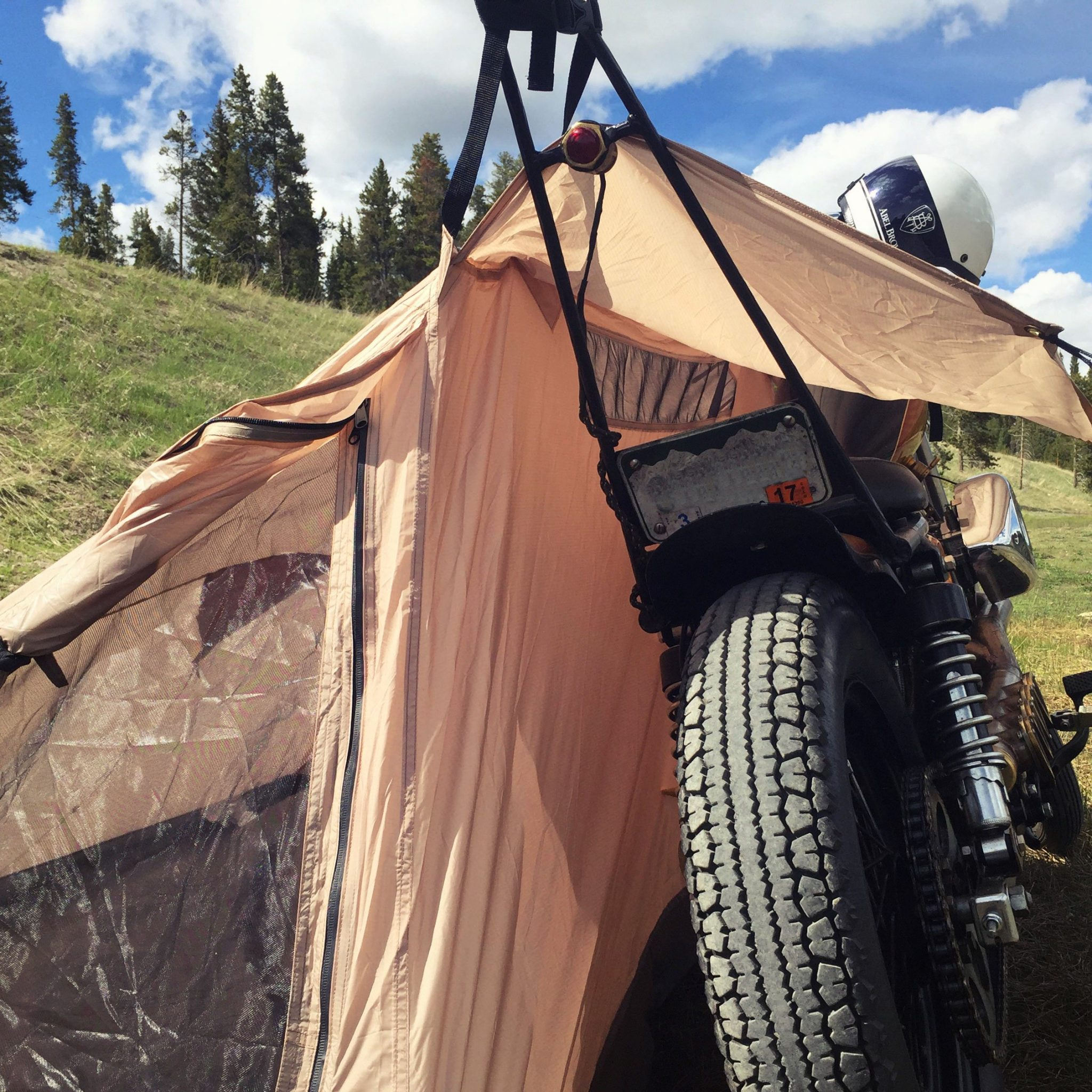 nomad-motorcycle-c&-tent-3 & Nomad 2 Motorcycle Tent