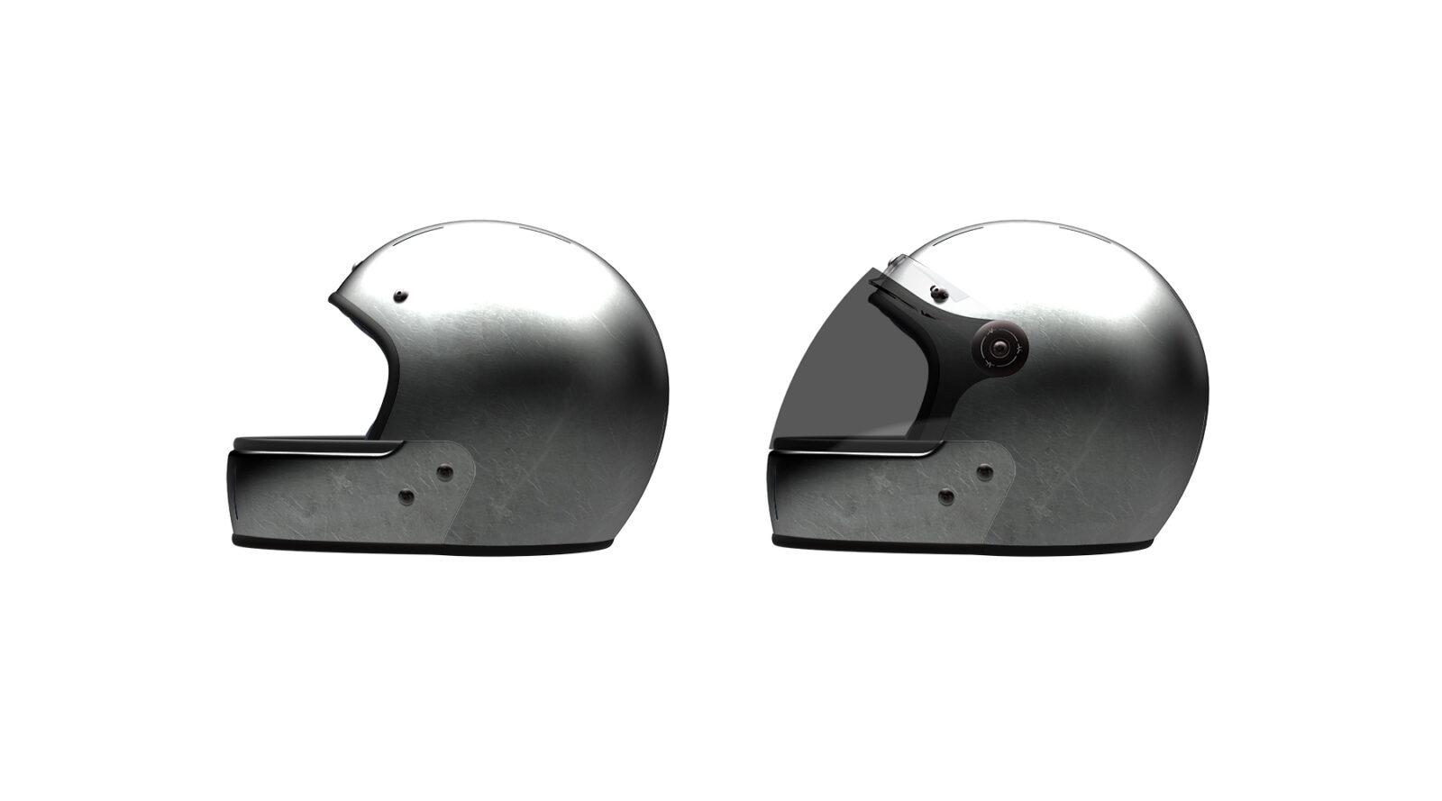 Veldt Motorcycle Helmets 1 1600x889 - Silver Foil Veldt Motorcycle Helmet