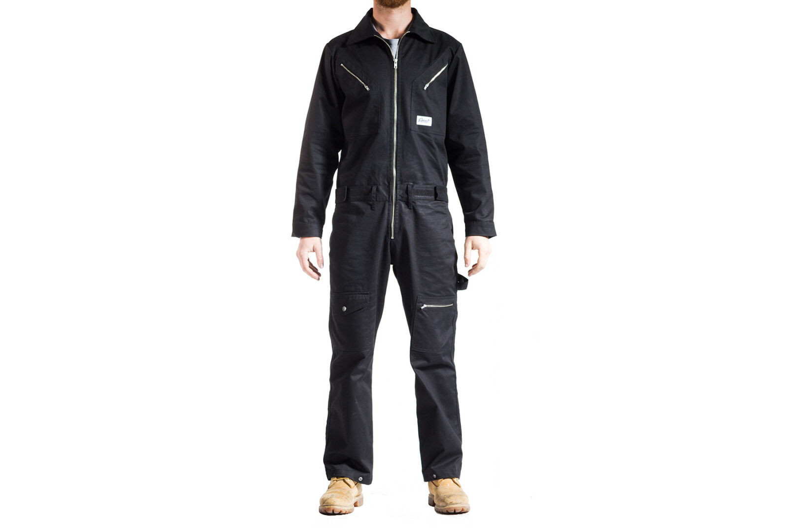Earnest Co. Black Bancho Overalls 1600x1079