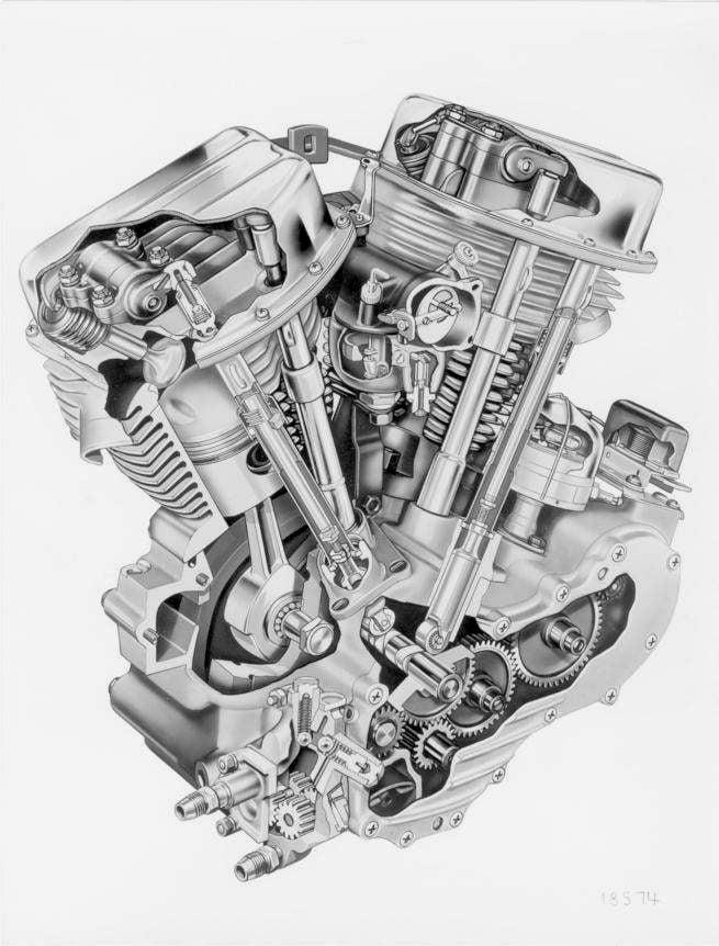 Harley-Davidson Panhead engine diagram