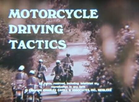 Motorcycle Driving Tactics 450x330 - 1972 Training Film: Motorcycle Driving Tactics
