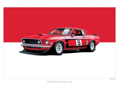 Mustang BOSS 302 450x330 - Iconic Racing Cars by Arthur Schening