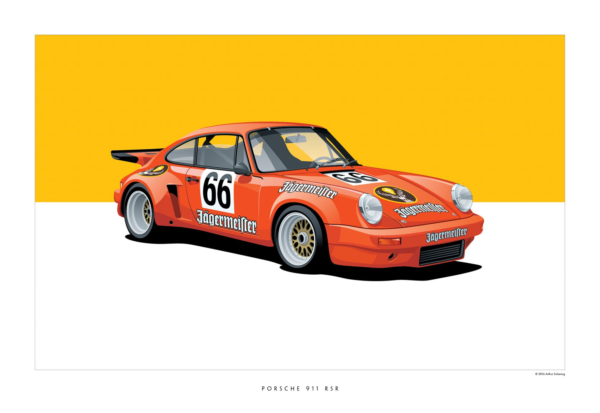Iconic Racing Cars by Arthur Schening