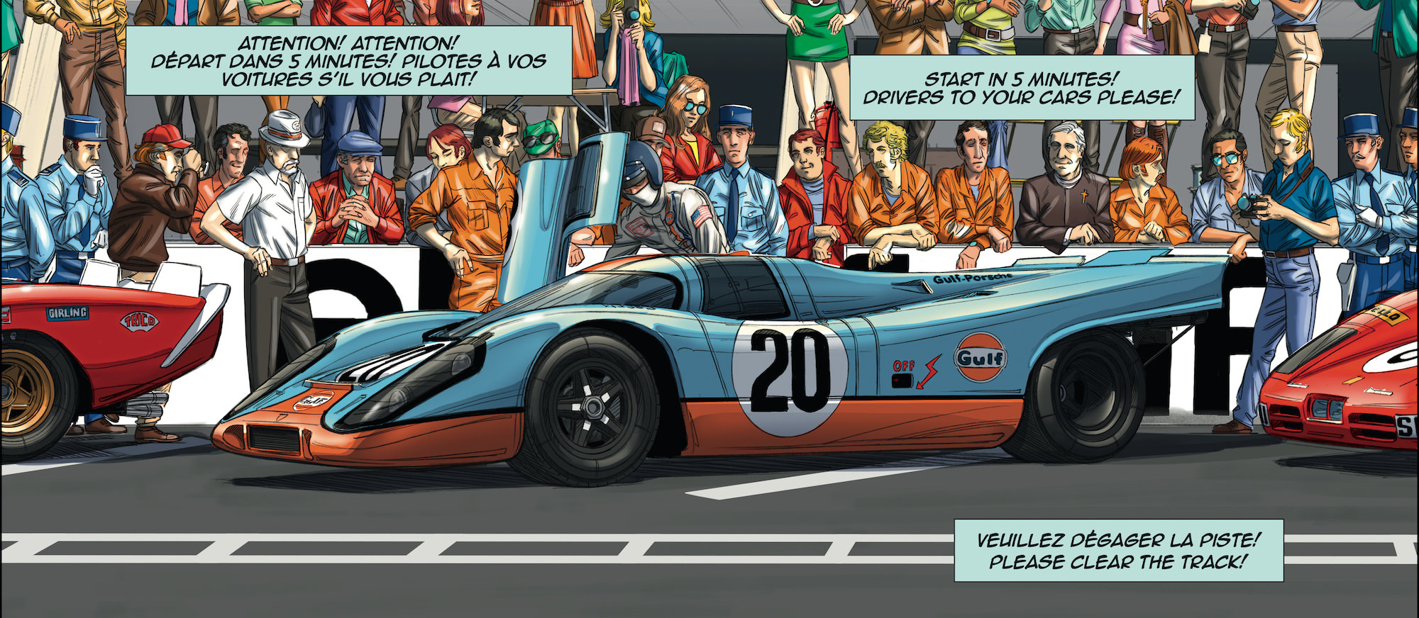 Steve mcqueen in le mans a graphic novel for Garage automobile le mans