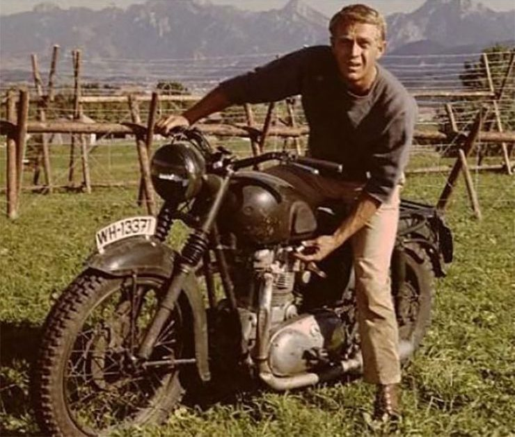 Triumph Military Motorcycle Steve McQueen