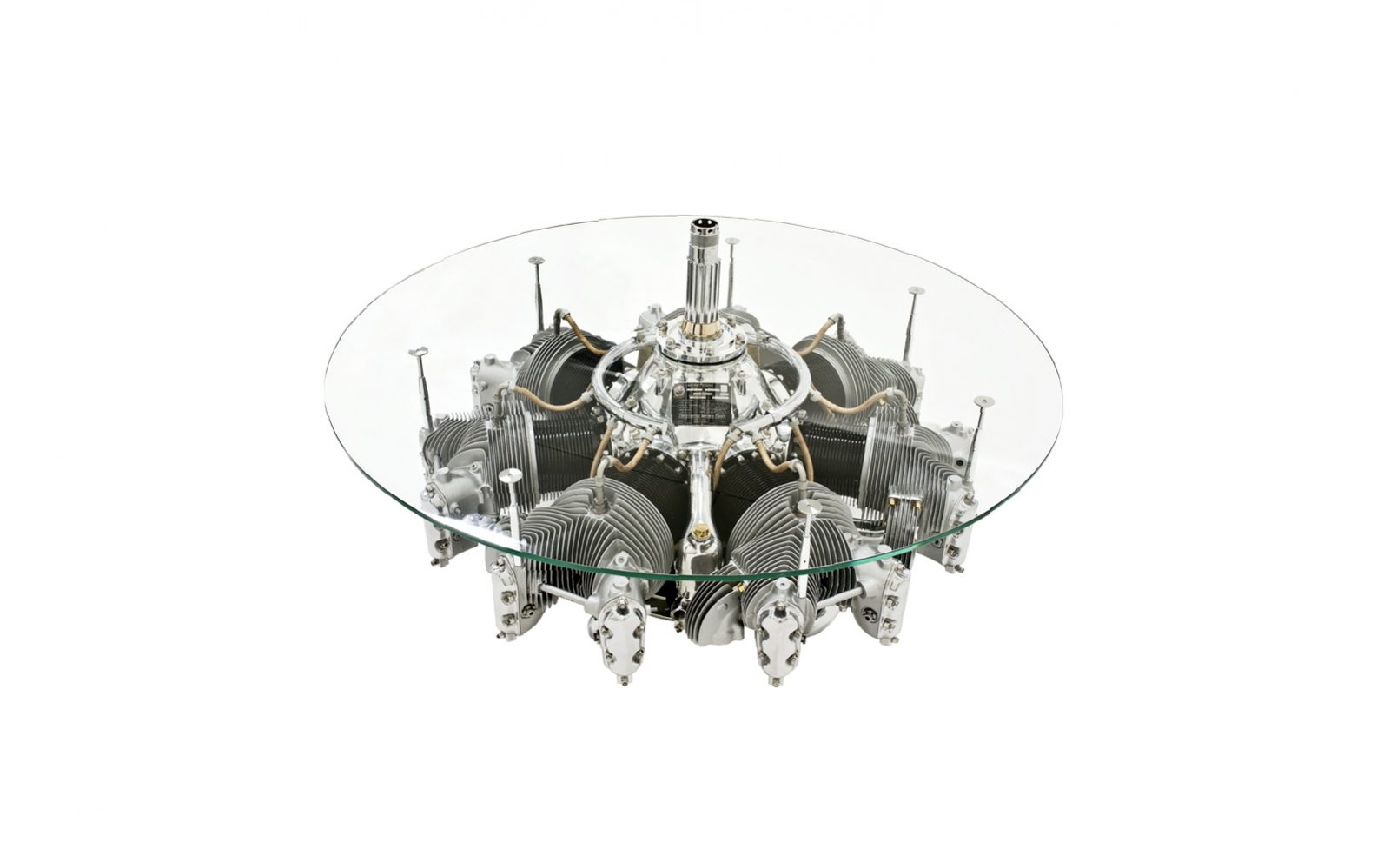 Continental Radial Engine Coffee Table 1600x999 - 1930's Continental Radial Engine Coffee Table