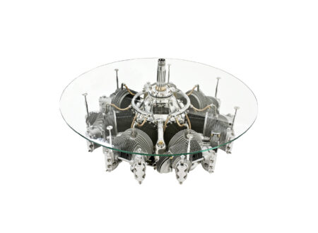 Continental Radial Engine Coffee Table 450x330 - 1930's Continental Radial Engine Coffee Table