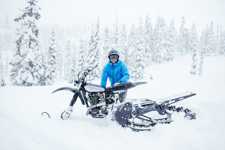 Yamaha HL500 Snow Bike 4 740x493 - The NLO Yamaha XT500 Snow Bike