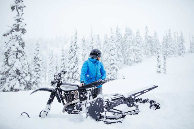 Yamaha HL500 Snow Bike 5 740x493 - The NLO Yamaha XT500 Snow Bike