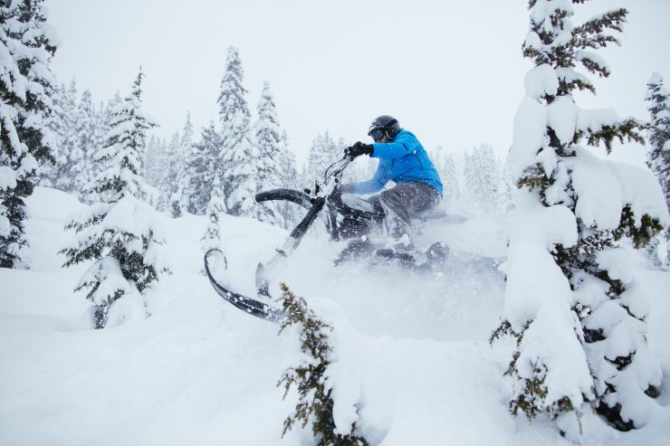 Yamaha HL500 Snow Bike 8 740x493 - The NLO Yamaha XT500 Snow Bike