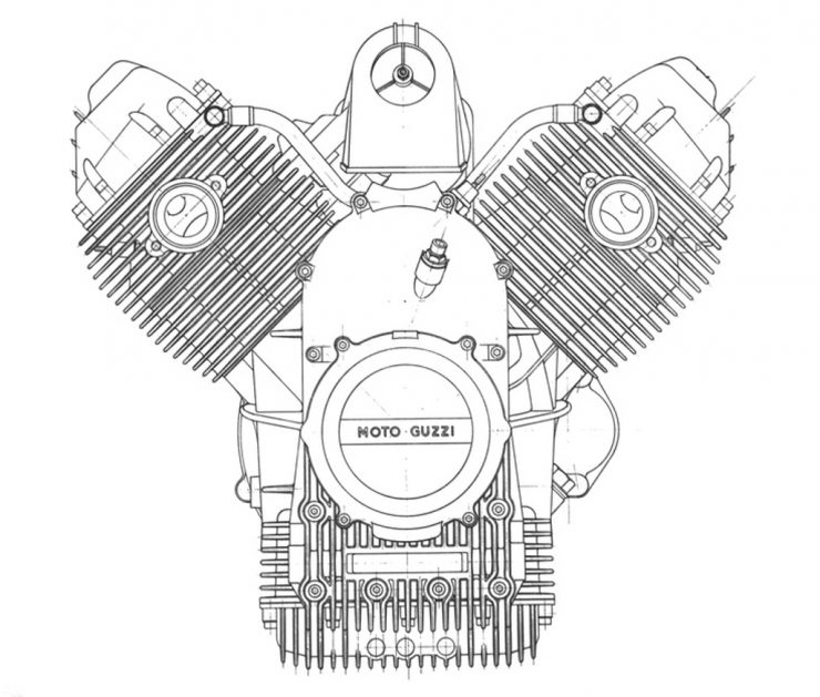 Moto Guzzi Le Mans engine