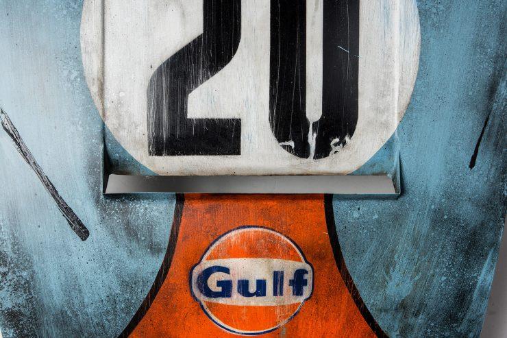 After The Race Porsche Hood Art 2 740x493 - Gulf Porsche Hood Art by After The Race
