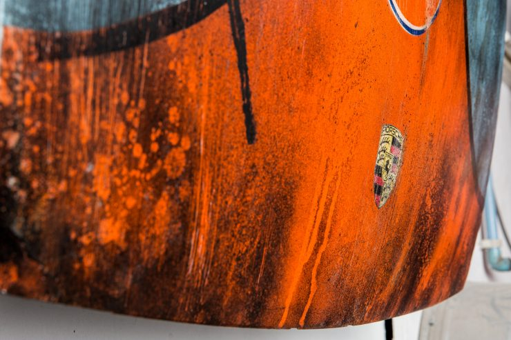 After The Race Porsche Hood Art 4 740x493 - Gulf Porsche Hood Art by After The Race